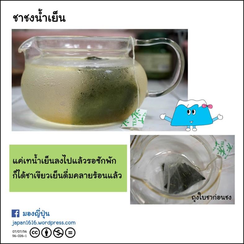 56-026 making cool green tea