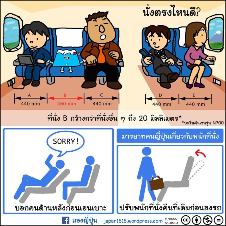 56-069 shinkansen seat manner ที่นั่งชินคันเซน มารยาท